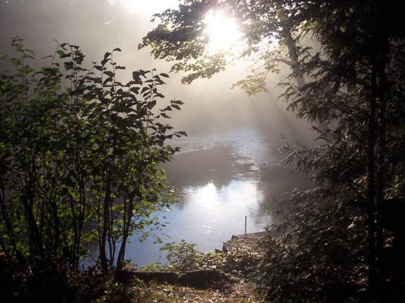 Kennisis River with early morning mists